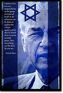 Yitzhak Rabin Poster Photo Oeuvre Imprimée Unique Cadeau 30x20 cm affiche