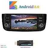 Android 8.0 Car Autoradio, Hi-azul In-dash 1 Din 6,2 Zoll 8-Core 64Bit RAM 4G ROM 32G Car Radio Autonavigation Kopfeinheit Car Audio für Fiat Grande Punto/ Fiat Linea (mit DAB USB Stick)