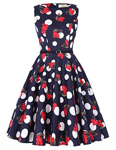 GRACE KARIN Frauen Vintage-Kleid ärmellos für Partei CL6086 Farbe-52