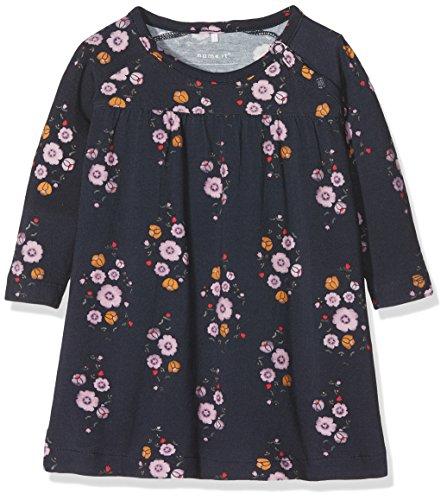 NAME IT Baby-Mädchen Kleid NBFLILY LS Dress, Mehrfarbig (Dark Sapphire), 68