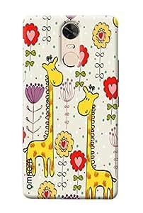 Omnam Cartoon Giraffe Pattern Printed Designer Back Cover Case For Lenovo K5 Note