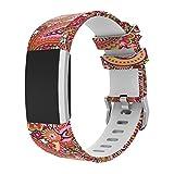 Magiyard Fitbit Charge 2 Bracelet de rechange souple en silicone ajustable, pour le sport Multicolore A
