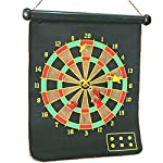 This magnetic dart board is great accessory for home, office and travel. The magnetic dart board can be rolled up to keep in neat cylinder packing. The kit comes with six magnetic h non pointed darts. This dart board is very safe entertainment for ki...