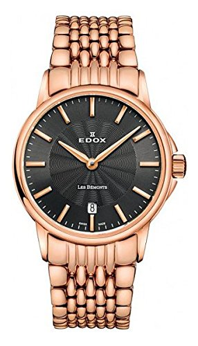 Edox Womens Analog Swiss-Quartz Watch with Stainless-Steel Strap 57001 37RM Gir