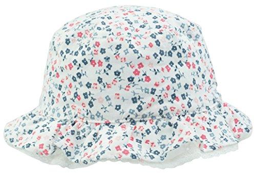 TotMore Baby Tollder Mädchen süße Blumen-Muster Eimer Sonnenschutz Hut Sommer Outdoor Cap - Weiß - 52 cm(52 cm)/2 Jahre-4 Jahre