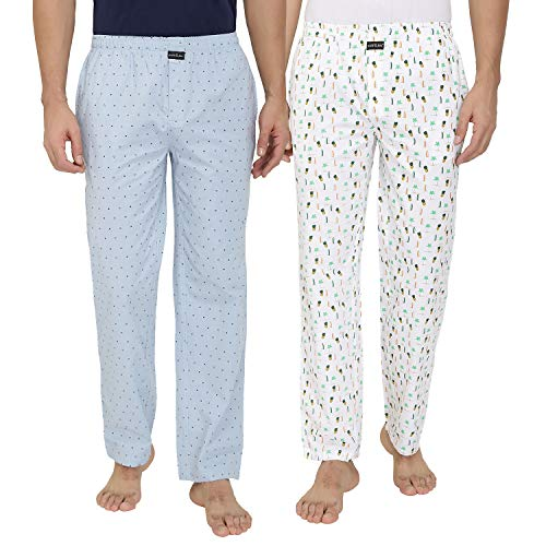 Nick & Jess Mens Multiprinted 100% Cotton Pyjamas(Steal Deal-Pack pf 2)