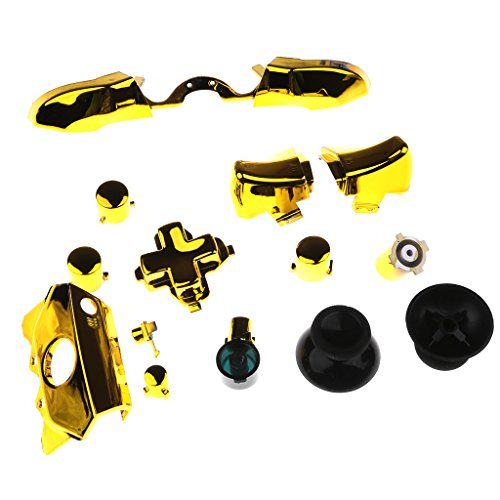 Segolike Bumper Button Set for XBOX One Controller with 3.5mm Jacks (Headphones Jack) Gold