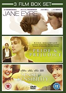 Jane Eyre (2011) / Sense and Sensibility (1996) / Pride and Prejudice (2005) - Triple Pack [DVD]