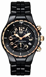 TechnoMarine Moonsun  TM208021 33mmmm Stainless Steel Case Black Ceramic Anti-Reflective Sapphire Women's Watch