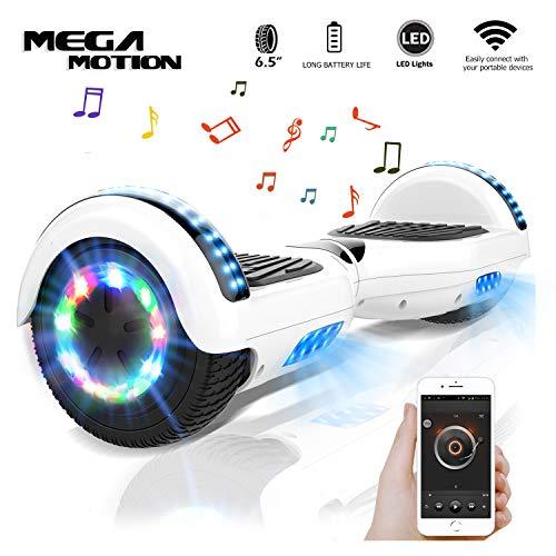 "Mega Motion Self Balance Scooter 6,5\"" - 2018 Elektro Scooter E-Skateboard - Scooter - UL zertifizierten 2272 LED - Räder mit LED Licht -Bluetooth Lautsprecher - 700W Motor"