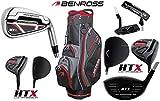 Benross HTX Compresor completo Golf Club Set palos con varilla de acero nuevo derecho mano