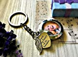 Best Sympathy Gifts - Silver Memorial Photo Locket Key Chain - Memory Review