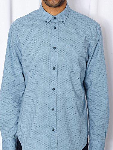 Wrangler - - Homme - Chemise bleu pois Button Down pour homme Bleu