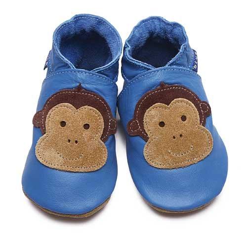 Inch Blue - 0937 S - Chaussures Bébé Souples - Cheeky Monkey - Bleu - T 17-18 cm