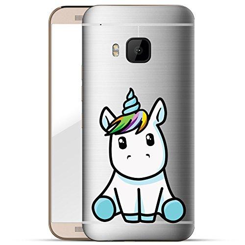 finoo | HTC one M9 Hard Case Handy-Hülle mit Motiv | dünne stoßfeste Schutz-Cover Tasche in Premium Qualität | Premium Case für Dein Smartphone| Einhorn