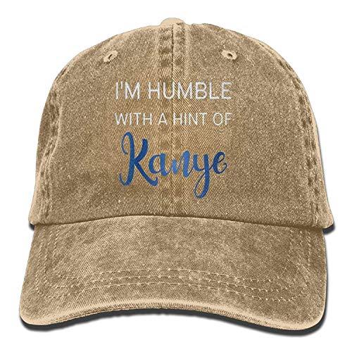 Je suis Humble avec Un soupçon de Kanye Fashion Denim Cotton Outdr Baseball Baseball Adjustable One Size Natural 01Y451