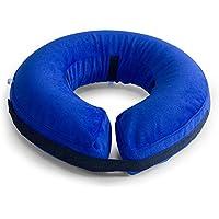 AMZTM Collar De Perro Inflable De Recuperación De Mascotas-Cuello Protector Suave Para Perros (Grande, Azul)
