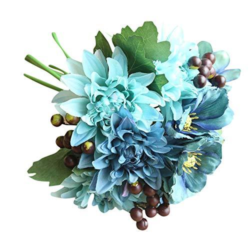 TianWlio Künstliche Seide Gefälschte Blumen Blatt Rose Blumen Hochzeit Bouquet Party Home Decor