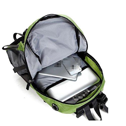 LF&F Backpack 25-30L Hochwertige Wasserdichte Nylon Outdoor Bergsteigen Tasche Unisex Sport Wanderung Urlaub Picknick Party Tasche Verstellbare Gurt Anti-Riss Rucksack Daypacks A