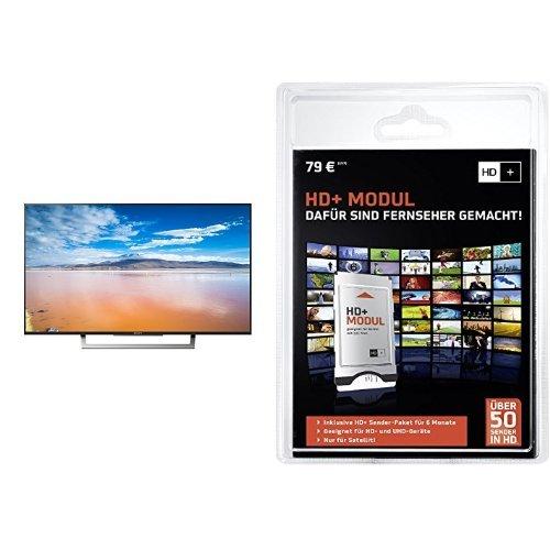 Sony KD-49XD8005 123 cm (49 Zoll) Fernseher (4K HDR, Ultra HD, Smart TV)+ HD PLUS CI+ Modul für 6 Monate (inkl. HD+ Karte, optimal geeignet für UHD, nur für Satellitenempfang) Bundle