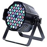 DJ Par Lichts 54x3W RGB Bühnenbeleuchtung LED Volle Farbe 4 Arbeitsmodellen Auto/Sound aktiviert/Master-Slave/DMX 512 für DJ Club Hochzeit Familie Party Disco Feier (54 X 0.5W)