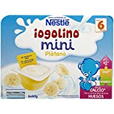 Nestlé iogolino Leche Fermentada con Puré de Plátano - Paquete de 6 x 60 gr - Total: 360 gr - [pack de 4]