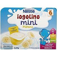 Nestlé Iogolino Leche Fermentada con Puré de Plátano - Paquete de 6 x 60 g - Total: 360 g