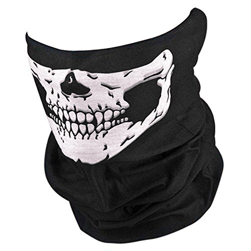 CHIC-CHIC Outdoor Sport 1PC Multifonction Tour de Cou Cagoule Microfibre Crâne Chapeaux Tube Masque Visage Paintball Cycliste Ski Snow Surf Moto Biker halloween déguisement