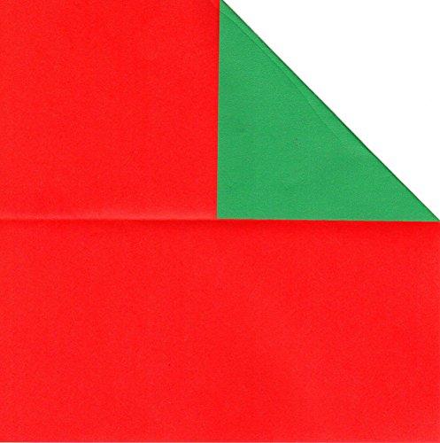 Bastelpapier, 80Blatt, doppelseitig rot und grün, Origami-Papier für Weihnachten