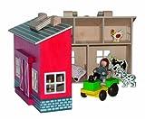 Faltbare Holz - Farm / Bauernhof mit Zubehör wie Tiere, Traktor und Farmer