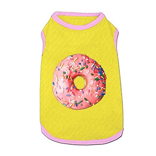 (Hund Weste, bestreut Donut Bedruckt Pet Kleidung Kostüm Kleine Haustiere Hund Puppy Katze Kleidung Bekleidung T Shirt Weste)