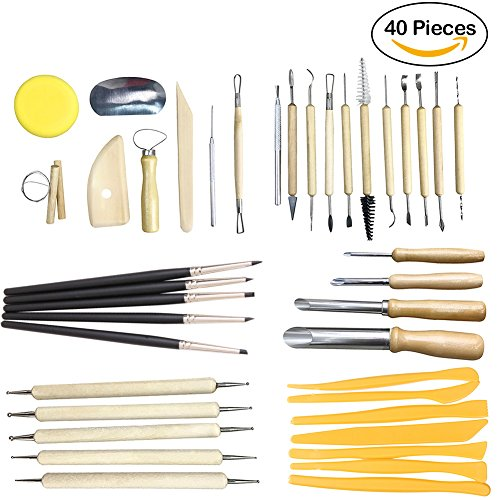 ele ELEOPTION 30PCS Keramik Werkzeug DIY Keramik Ton Skulptur Carving Werkzeug Kit für Kerzenherstellung Modellbau Schmuckherstellung Schnitzarbeiten
