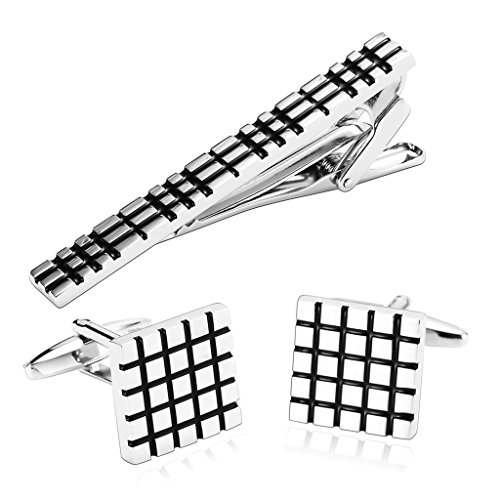 epinki-mens-stainless-steel-silver-black-carved-box-pattern-geometry-cufflinks-and-tie-clip-set