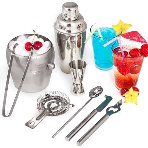 Set de TecTake Kit Cocktail 8 pièces Cocktail Shaker Cocktail