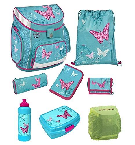 Scooli Butterfly Schulranzen Set 8tlg. Campus Up Schmetterling Dose/Trinkflasche BUKR8252