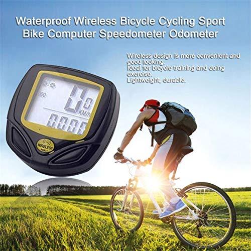 Delicacydex Wasserdichtes drahtloses Plastikfahrrad, Das Sport-Fahrrad-Computer-Geschwindigkeitsmesser-Kilometerzähler mit LCD-Anzeige radfährt - 5