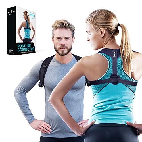 DYNMC you Haltungskorrektur für aufrechte Körperhaltung - Rückenstütze unter/über der Kleidung tragen - Gerader Rücken im Büro - Keine Rückenschmerzen - Qualitäts Posture Corrector für Damen & Herren -