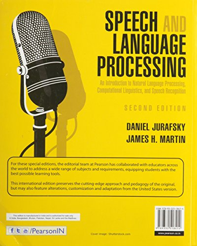 Speech and Language Processing: An Introduction to Natural Language Processing, Computational Linguistics and Speech Recognition, 2e