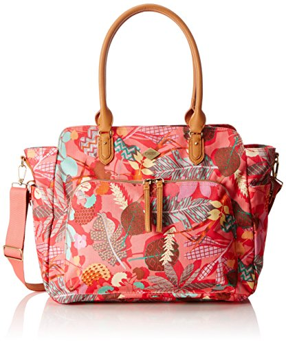Oilily Damen Carry All Schultertasche, Pink Flamingo, 15x34x41 cm