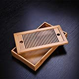 TiooDre Bamboo Gongfu Tabella di tè Vassoio Tea Table 25 * 14 * 3,5 Centimetri (Gusto)