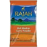 Rajah Caliente De Madras 100G Polvo De Curry (Paquete de 4)
