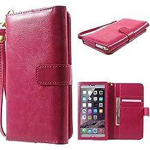 DFV mobile - Funda con Ventana Tactil y Tarjetero Premium de Piel Sintetica Diseño Caballo Salvaje para => Elephone Vowney Lite > Rosa