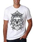 LuckyTshirt Skull Shirt T Top Rock Punk Metal Funny Jokes Celtic Tribal Star War Darth Vader Tee Mens Motorcycle UK Punisher - L