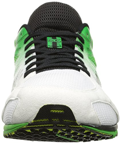 Mizuno Wave Ekiden 9 Synthétique Chaussure de Course White-Black-Lime Green