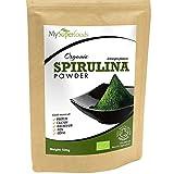 Polvo de Espirulina orgánica | MySuperFoods | Lleno de proteínas, calcio y vitaminas | Rico en nutrientes | La más alta calidad disponible | Orgánico certificado por la Soil Association