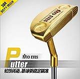 LIJIANGUO Randello Professionale di Golf, Putter, Sistema di puntamento Semplice, Fabbricazione Molle del Ferro 304,Gold