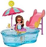 Barbie Mattel DWJ47 - Chelsea Pool und Wasserrutsche Set