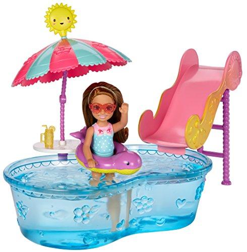 Mattel Barbie DWJ47 - Chelsea Pool und Wasserrutsche Set