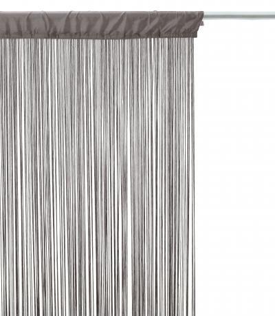 ATMOSPHERA Fadenvorhang, 90x 200cm, grau