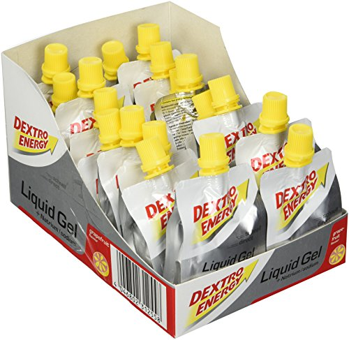 Dextro Energy Energy Gel   18x60ml Liquid Gel Grapefruit   Mit Natrium & Dextrose   Energy Drink Alternative   Ideal als Sportgetränk